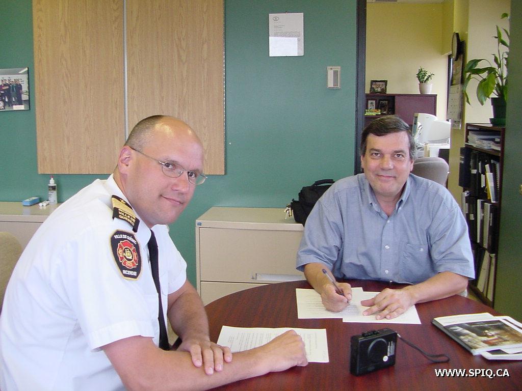 Entrevue verbale du service d'incendie